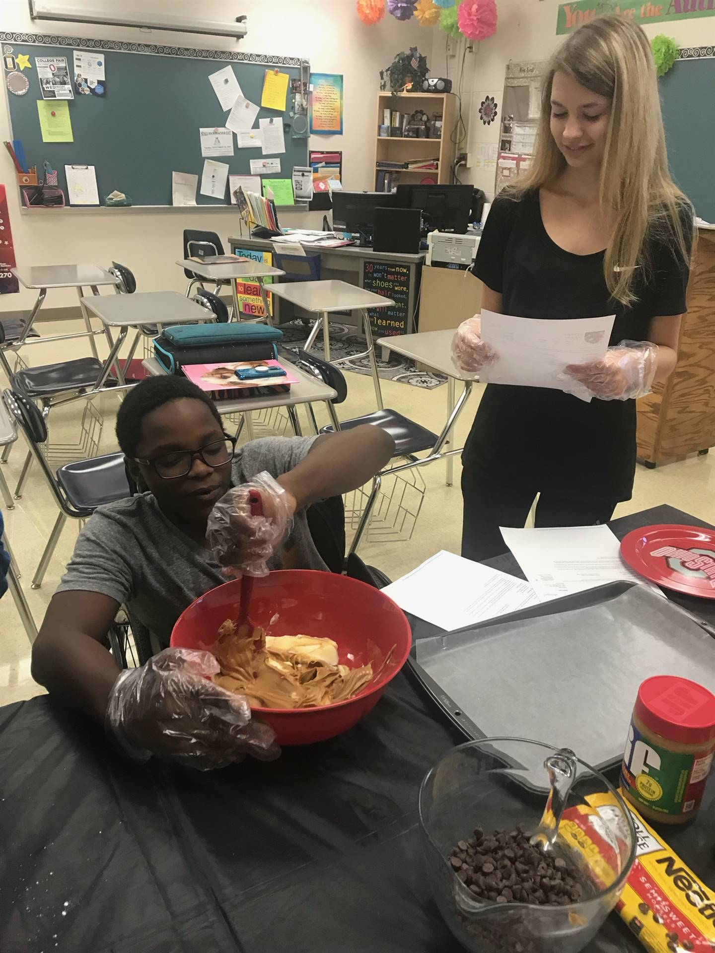 students stirring