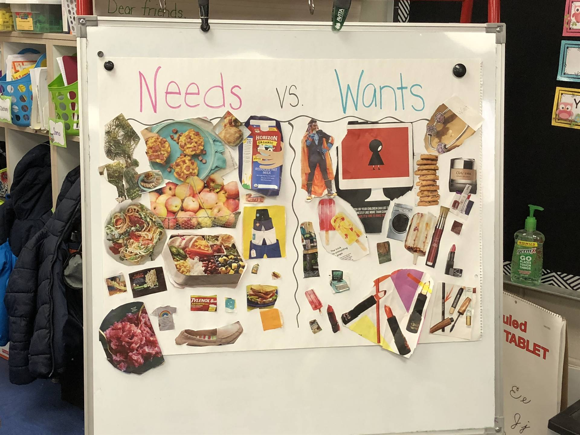 needs and wants poster
