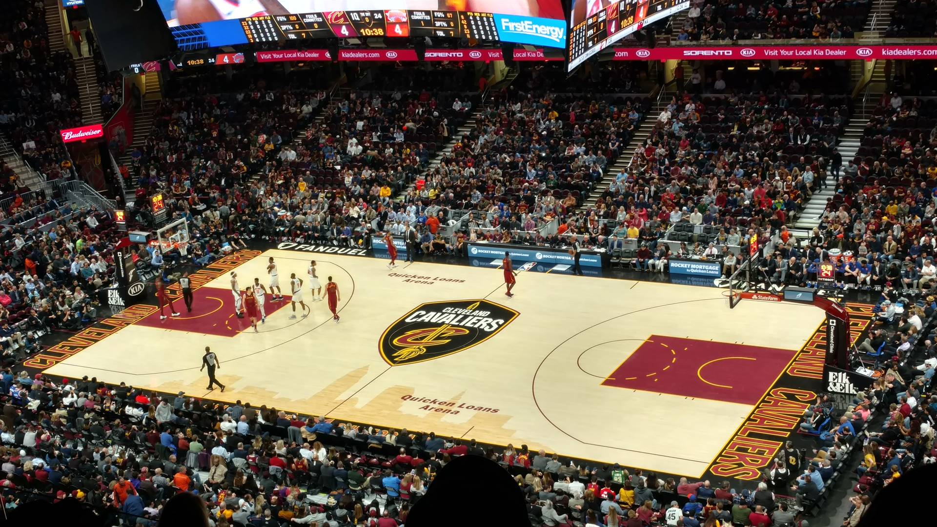 CAVS Game with FCCLA Members