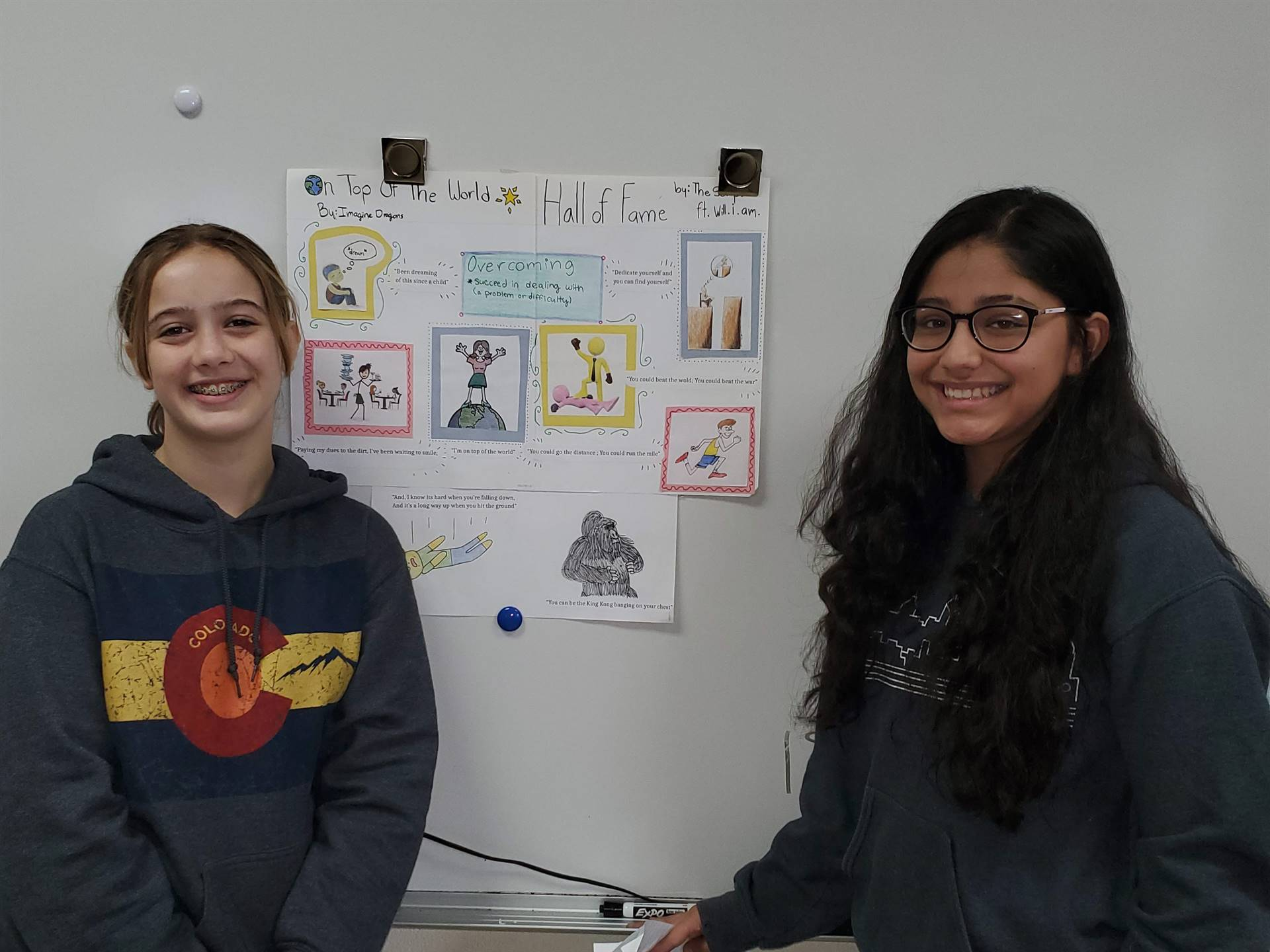 students presenting  posters