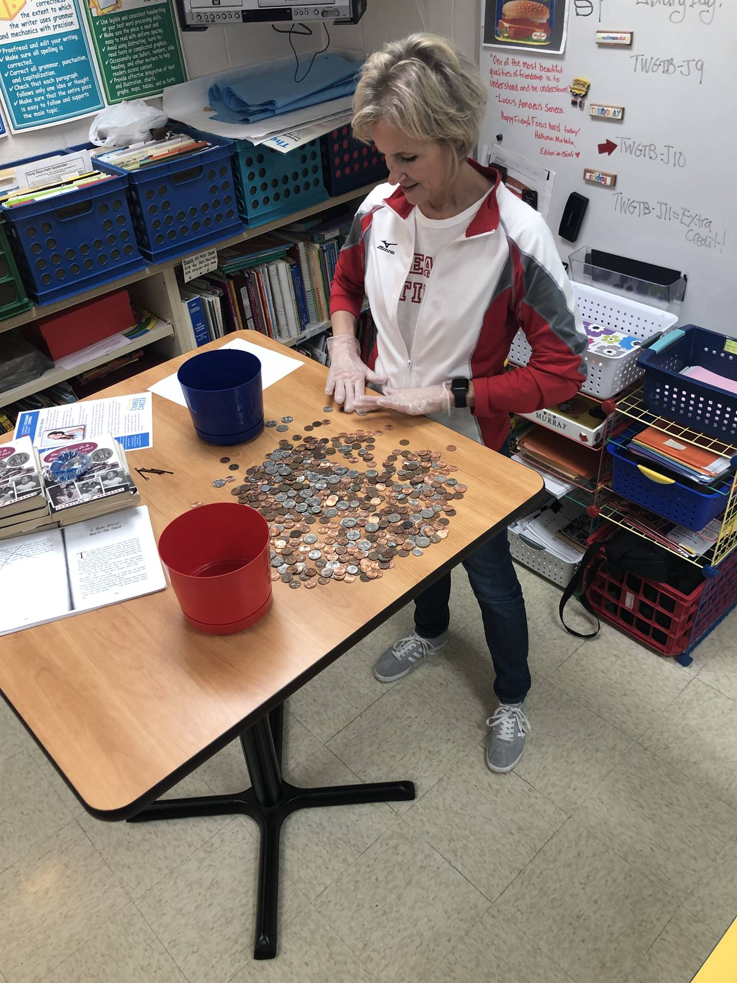 teacher counting