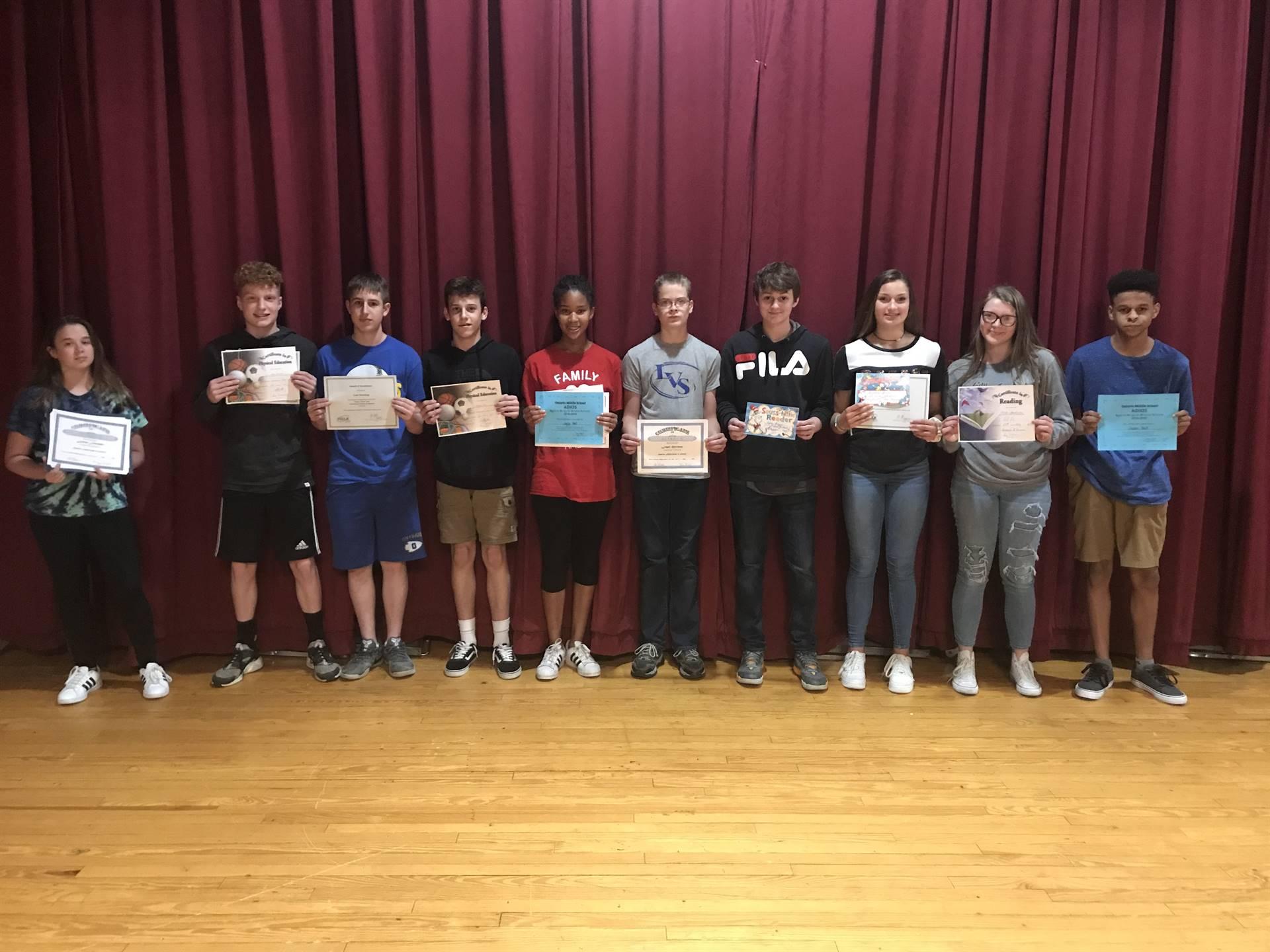 8th Grade Academic Awards