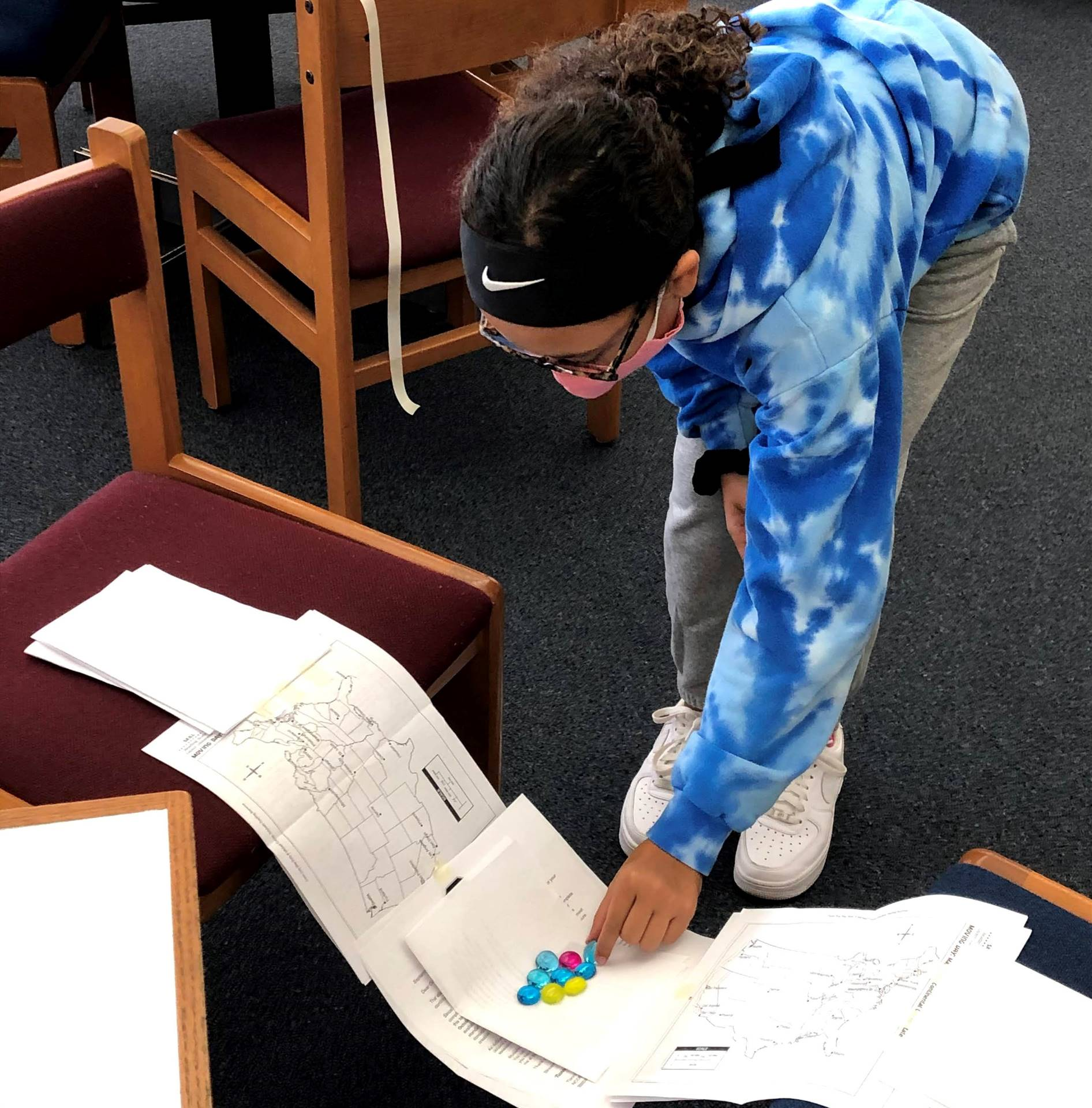 student measuring