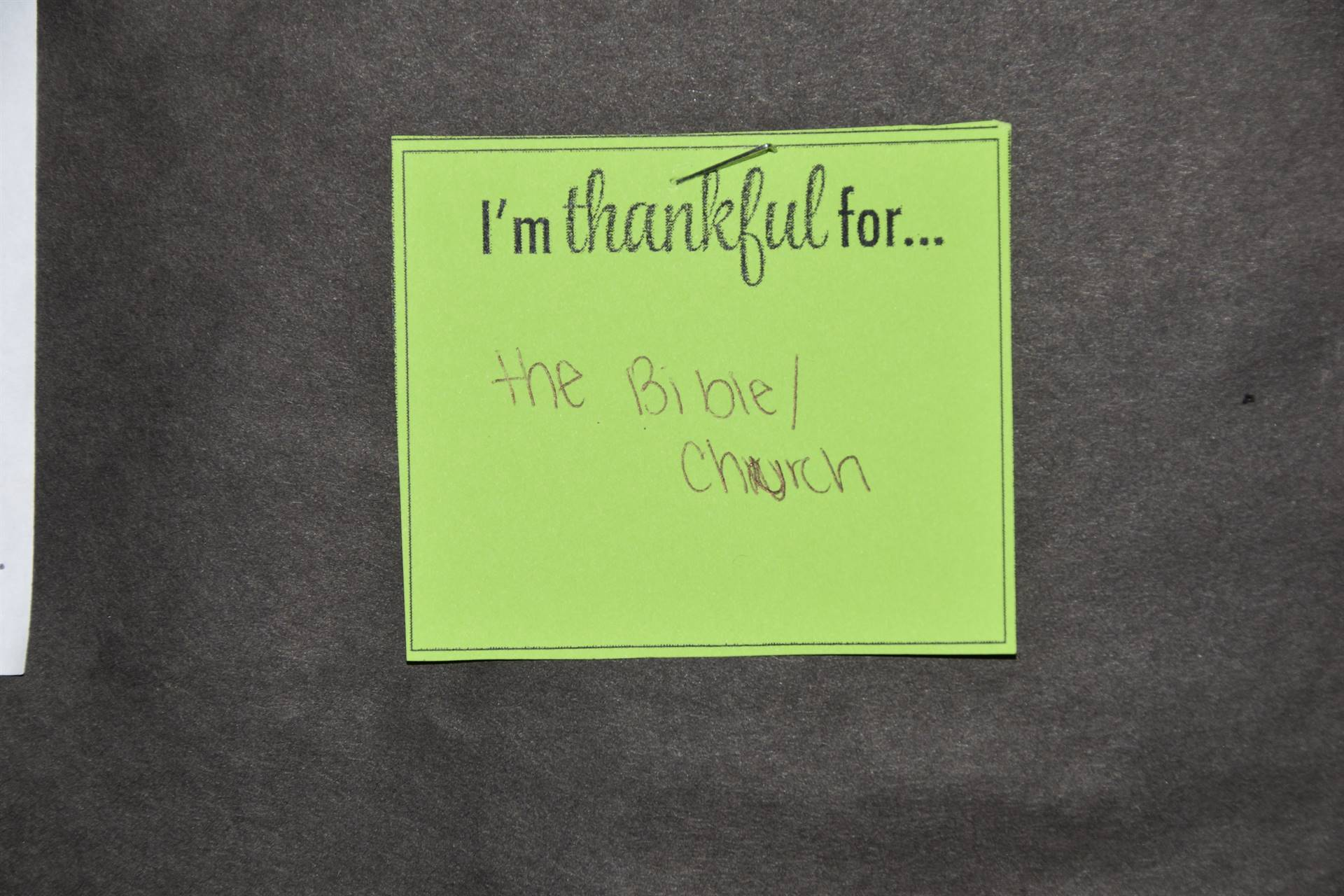 thankful note
