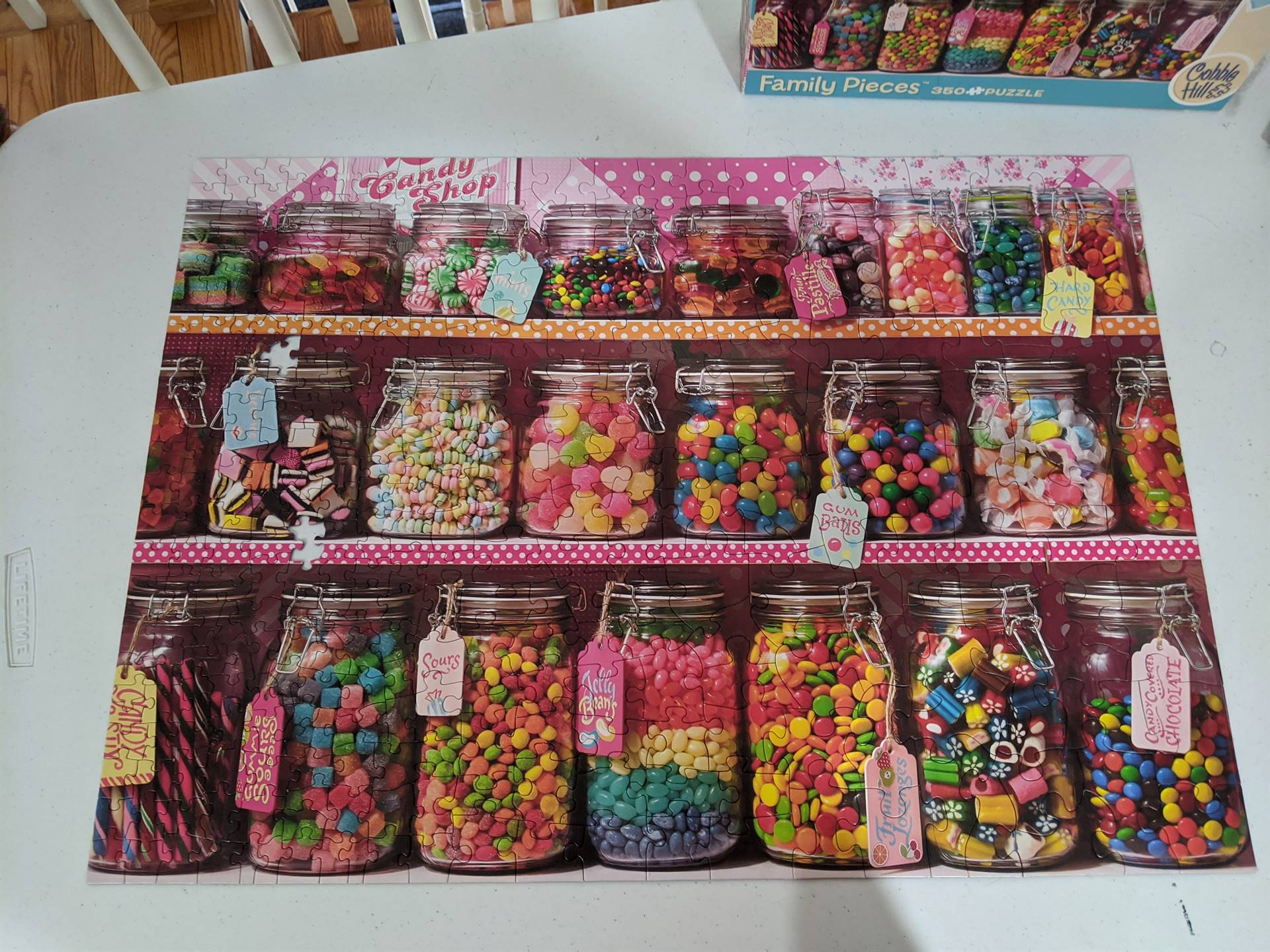 puzzle of candy jars