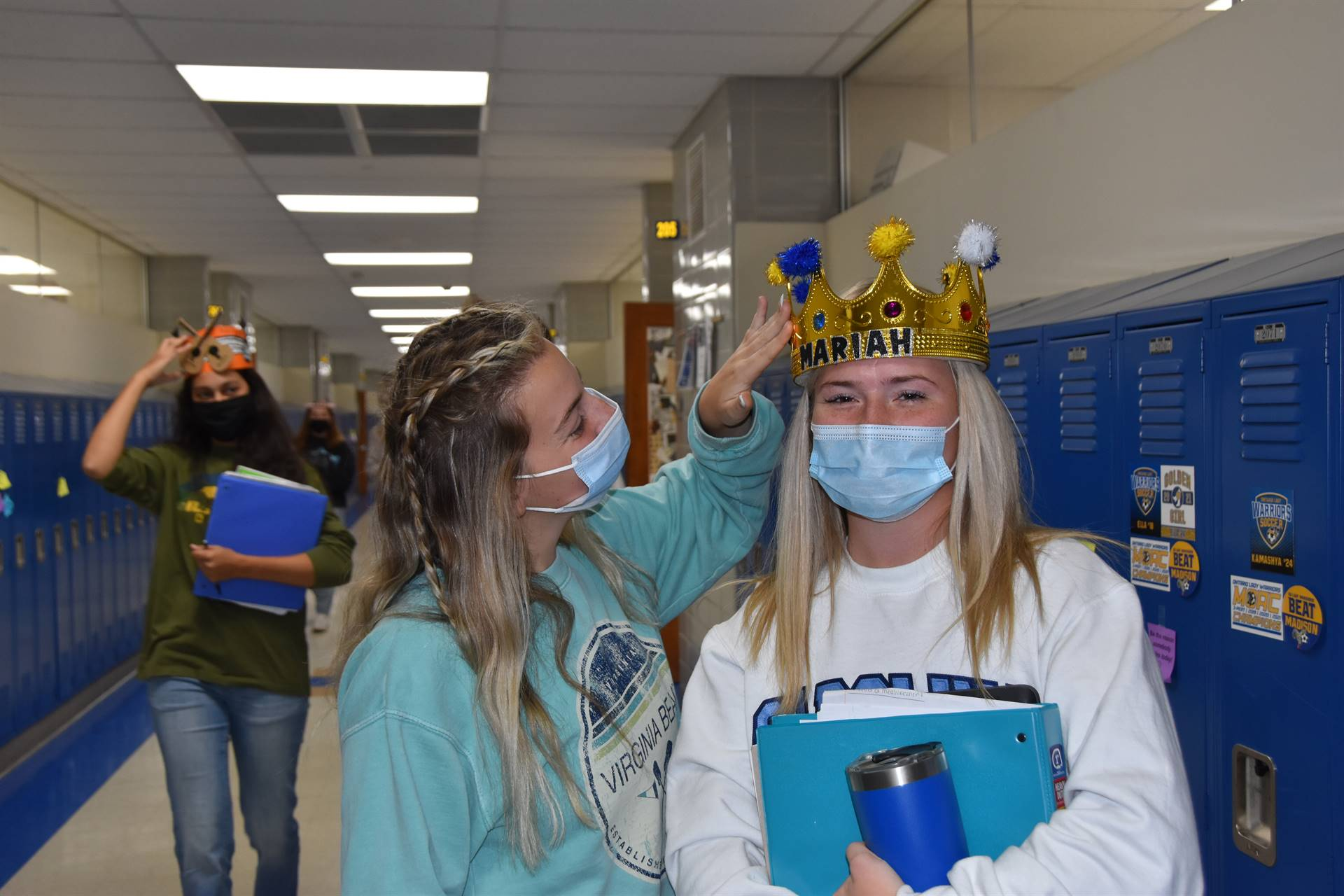 crowning student